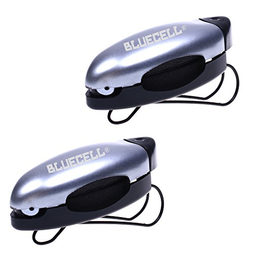 BCP Pack of 2pcs Silver Color Eyeglasses Clip Holder Sunglass Visor - Visor Eyeglass