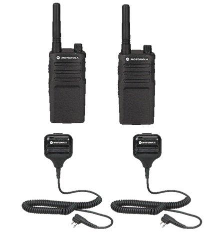 2 Pack Motorola RMM2050 Radios with Speaker Mics