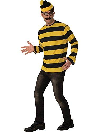 Rubie's Costume Co Unisex-Adults Where's Waldo Odlaw Costume White -