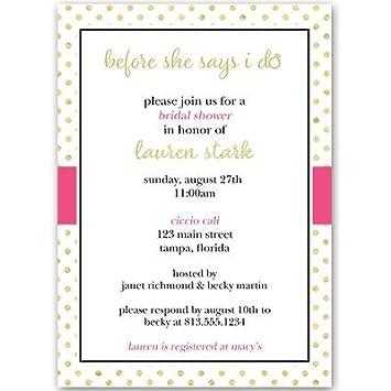 Bridal ducha invitaciones, bodas, Negro, Rosa, Blanco, Dorado, brillante,