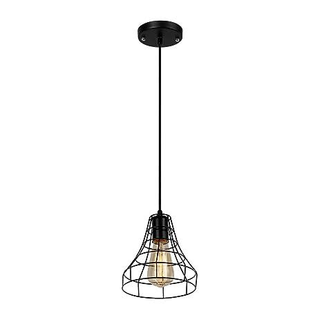 Jeuneu Vintage Industrial Hanging Black Pendant Lights