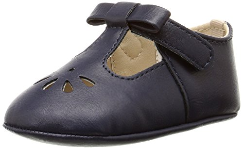 Baby Deer Girls' T-Strap with Bow Infant-K, Navy, 3 M - Baby Deer Infant Shoes