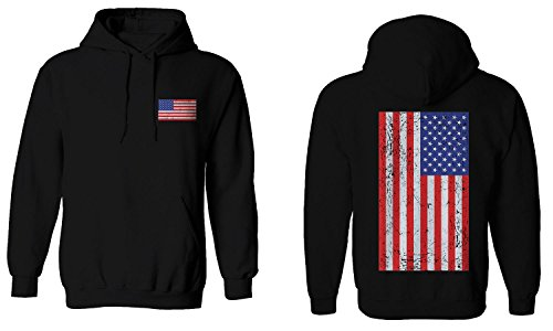 Vintage American Flag United States Of America Red White Blue Military Army Marine us Navy Hoodie (Black, - Blues Brothers White And Black