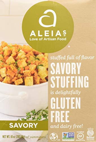 Aleia's Gluten Free Foods Gluten Free Savory Stuffing Mix, 10 Oz, 10 Ounce (Stuffing Recipe Using Stove Top Stuffing Mix)