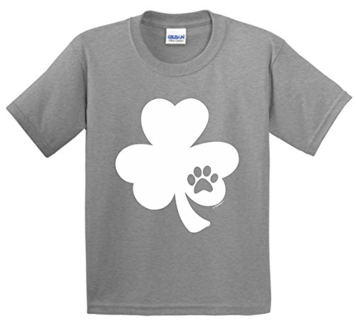 ThisWear Funny ST Patricks Day Shirt ST Pattys Day Pawprint Shamrock Dog or Cat Lover ST Patricks Day Youth T-Shirt Small - Shamrock Print Calendar