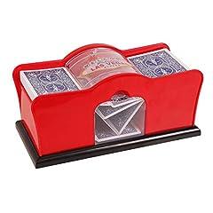 2-Deck Card Shuffler; Manual; Hand Cranked, Made of Sturdy Plastic