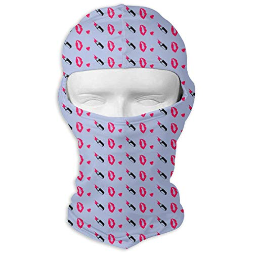 SincerityFirst Balaclava Full Face Mask Lipstick Kiss Windproof UV Protection Neck Hood Ski Mask for Motorcycle Cycling Outdoor Sports -