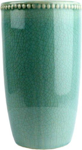 HomArt Parisian Ceramic Vase, Large, Teal