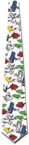 ONESEDA Men's Red Fish Blue Fish Tie Necktie Ties