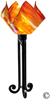 product image for Jezebel Signature Torch Light. Hardware: Black. Glass: Zinnia, Flame Style