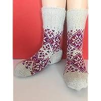 Hand knit socks; wool knit socks; knitted socks warm sock;wool socks