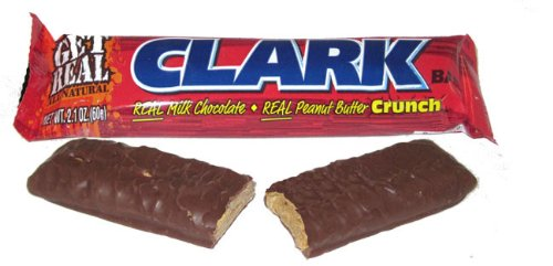 Necco Clark Bar Real Milk Chocolate and Real Peanut Butter Crunch - Great-Tasting Treat - 2.1 Ounces Each, Pack of 24 (Candy Clark)