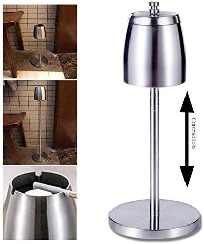 ポータブル ステンレス鋼の灰皿、 アウトドア 調整可能 テレスコピック 床置き 灰皿、 防風 大容量 壊れない 灰皿、 に適し 家/外/棒/オフィス/カフェ