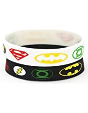 Bundle Of 2 Superhero superman Batman Silicone Bracelet For Unisex