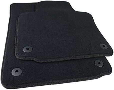Vw scirocco 2008 sur mesure sol tapis de voiture tapis noir mat bordure bleu