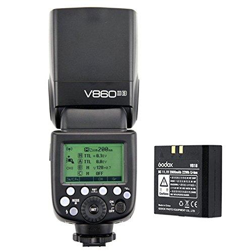 Godox V860II-S Pioneering Li-ion Battery Camera Flash, 2.4G Wireless, Master&Slave TTL Speedlite for Sony DSLR Camera + CEARI MicroFiber Cloth by Godox