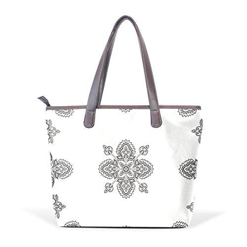 9818dc58918ab Coosun Womens Floral Patterns Pu Leder Große Einkaufstasche Griff  Umhängetasche