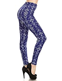 Conceited Premium Ultra Soft Printed Leggings - High Waist - Regular and Plus Size - 30