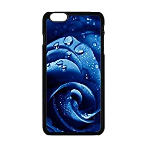 Blue Rose Waterdrop Black Phone Case For Iphone 5C Cover plus