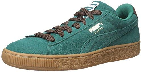 Puma Mens Suede Classic Casual Fashion Sneakers, Storm/Oxblood/Gum, 48.5 D(M) EU/13 D(M) UK