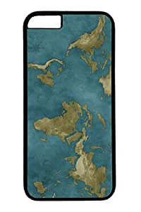 iPhone 6 Case, Personalized Unique Design Protective Cover for iPhone 6 PC Black Edge Case - World Map