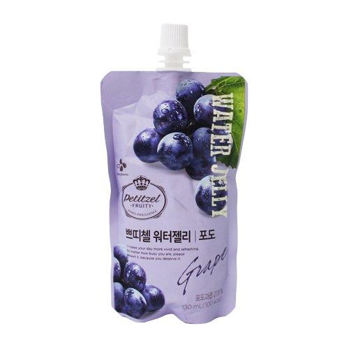 [5packs] CJ Petitzel Water Jelly (Grape) 130ml / Dessert / Fruit vegetable beverage / Korean food
