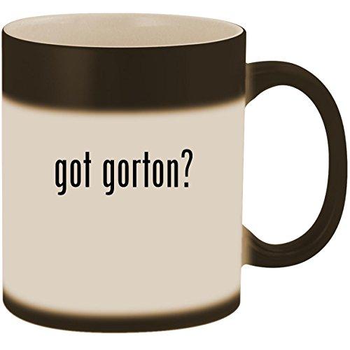 Black Vapor Clam - got gorton? - 11oz Ceramic Color Changing Heat Sensitive Coffee Mug Cup, Matte Black