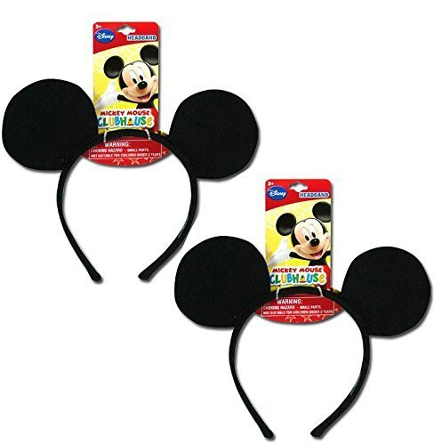 Genuine UPD Mickey Mouse Classic Ear Shaped Headband Disney Official Licensed (2 pack)]()