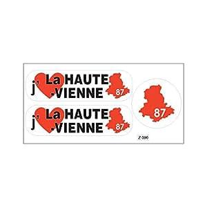 Tabla A4de stickers departamento 87J 'aime la alta Viena Pegatina Adhesiva