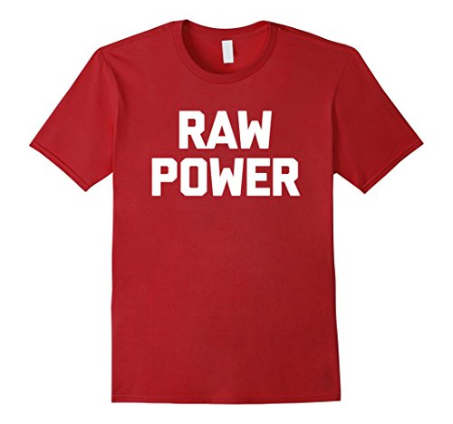 Mens Raw Power T-Shirt funny saying sarcastic novelty humor cool 3XL Cranberry (Power The Tee Raw)