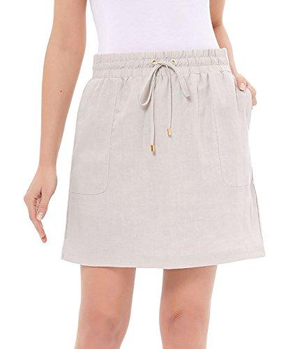 - ELLEN TRACY Women's Linen Skort (Small, Sandstone)