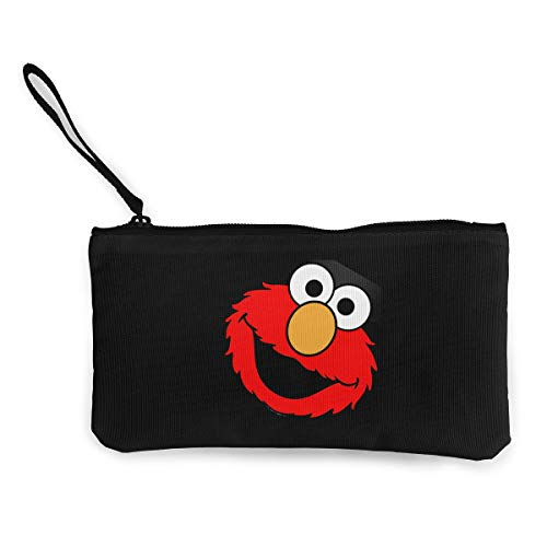 (Canvas Coin Purse Slim Make Up Bag Cellphone Bag Elmo's World Running)