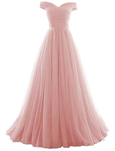 Vickyben Women's A-Line Tulle Prom Formal Evening Homecoming Dress Ball Gown ()