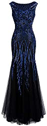 Women's Sequin Cap Sleeve Mermaid Dress