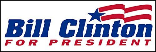 [해외]대통령 범퍼 스티커 미국 비닐 빈티지 빌 클린턴 (88 92 선거 정치 로고) / American Vinyl Vintage Bill Clinton for President Bumper Sticker (88 92 Election Political Logo)