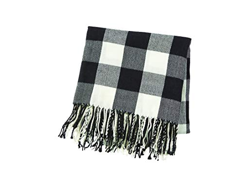 Mud Pie Buffalo Check Blanket (White Buffalo Check)