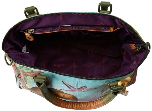 Anuschka Hand-Painted Leather Medium Convertible Satchel | Top Handle Shoulder Bag/Purse | African Adventure by Anuschka (Image #5)