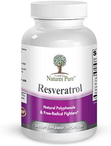 Resveratrol 1400mg 90 Veggie Capsules- Potent Complex of 98% Trans Resveratol, Vitamin C, Extracts from Japanese Knotweed, Acai Berry, Green Tea Leaf, Grape Seed Extract & More