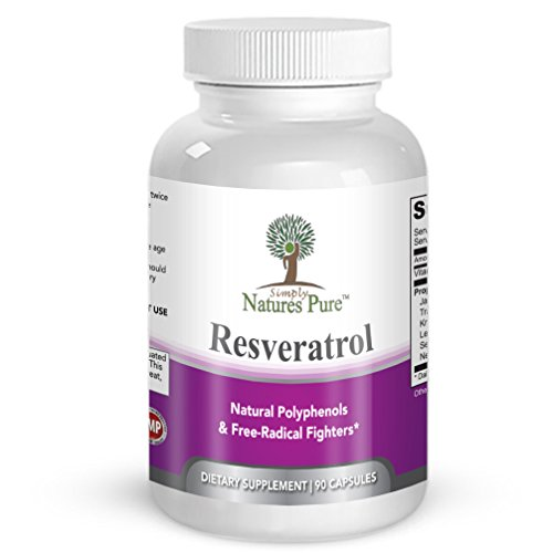 Pure Acai Berry Extract (Resveratrol 1400mg 90 Veggie Capsules- Potent Complex of 98% Trans Resveratol, Vitamin C, Extracts from Japanese Knotweed, Acai Berry, Green Tea Leaf, Grape Seed Extract & More)