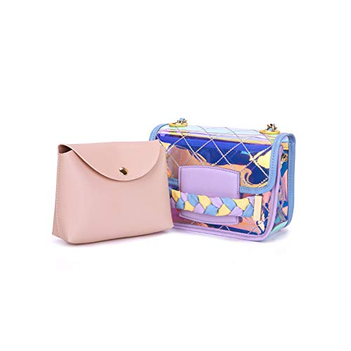 azul YooTM005 Rosa One Pink Yoome al Bolso Size PVC para de Hombro Beige Mujer Ovwqvp