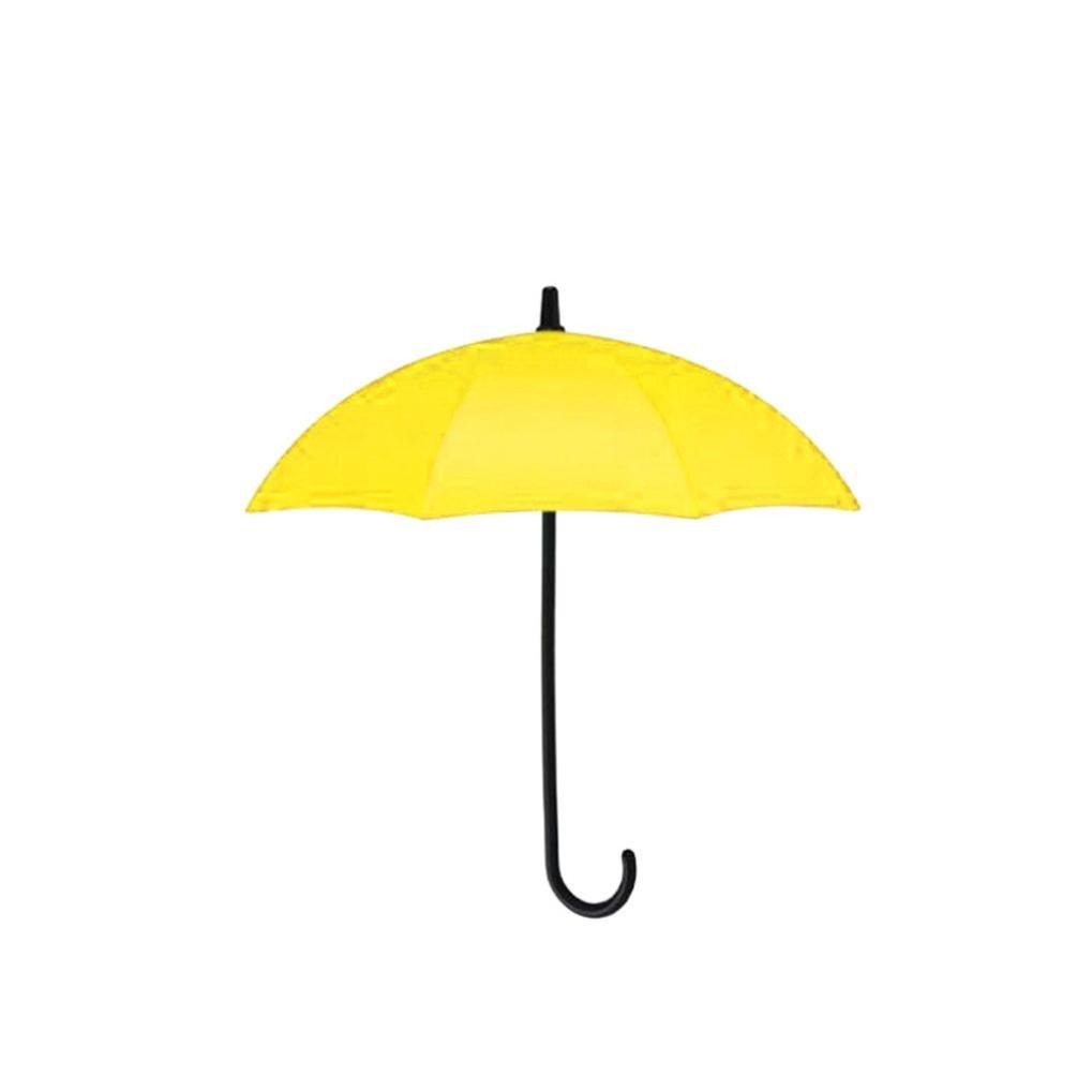 Durable Umbrella Wall Hook Key Hair Pin Holder Hanger Organizer Decorative (Yellow)