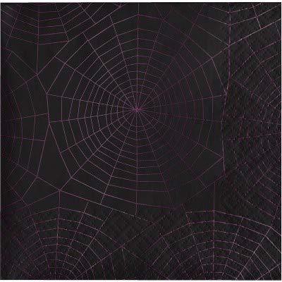 Dark Wonder Spider Web Beverage Napkin 20ct - Hyde and Eek! Boutique153; Multi-Colored