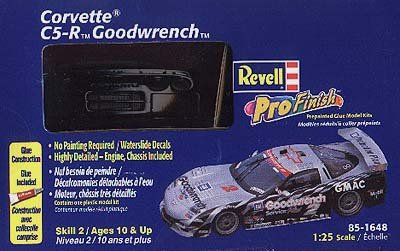 #1648 Revell Pro Finish Corvette C5-R Goodwrench Corvette 1/25 Scale Plastic Model (Goodwrench Engine)
