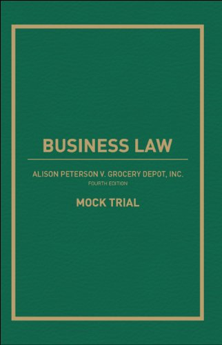 Download Business Law: Alison Peterson v. Grocery Depot, Inc. Mock Trial Pdf