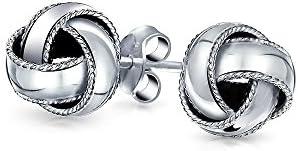 Bling jewelry Love Knot Stud Earrings