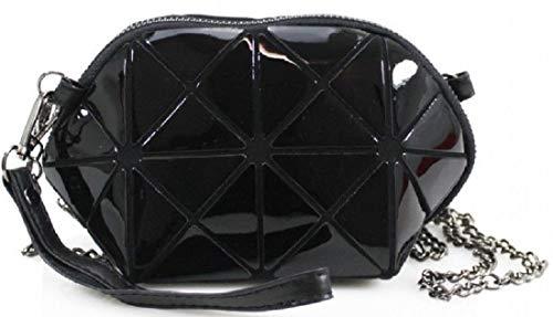 Design Bag Bag Holder Shoulder Mini Inspired Girl Designer Key Phone Glossy Prism Strap Chain Gossip Body Side Cross Black ZfzqW