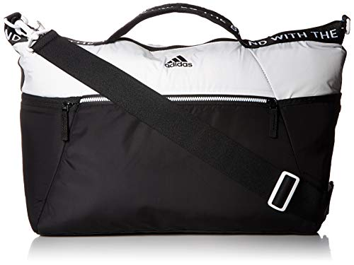 White Tote Stripe - adidas Studio III Duffel Bag, White/Black, One Size