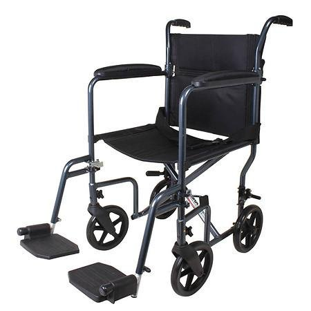 Carex Transport Chair with Swing Away Leg Rests - 3PC