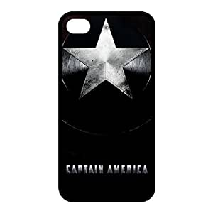 Captain America Custom TPU Case Cover Protective Skin For Iphone 4 4s iphone4s-NY1192