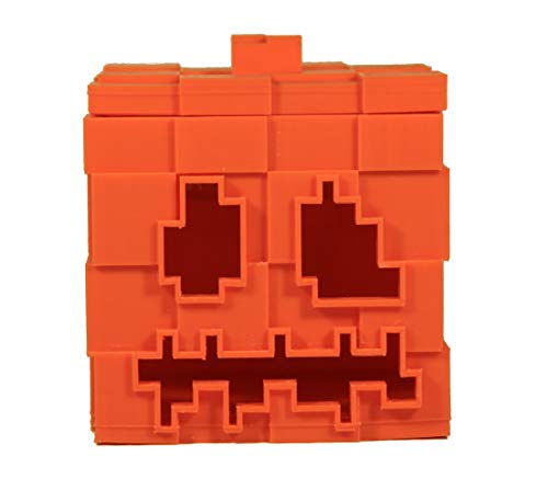 TheZeeAxis Minecraft Halloween Pumpkin with LED, Pen Stand, Cutlery Stand, Night Lamp, Halloween Decor]()